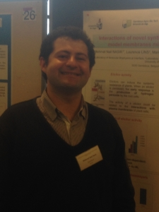 Dr. Mehmet Nail NASIR during poster presentation