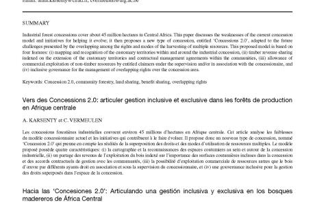 Publications gestion des ressources foresti res for Alain karsenty cuisine