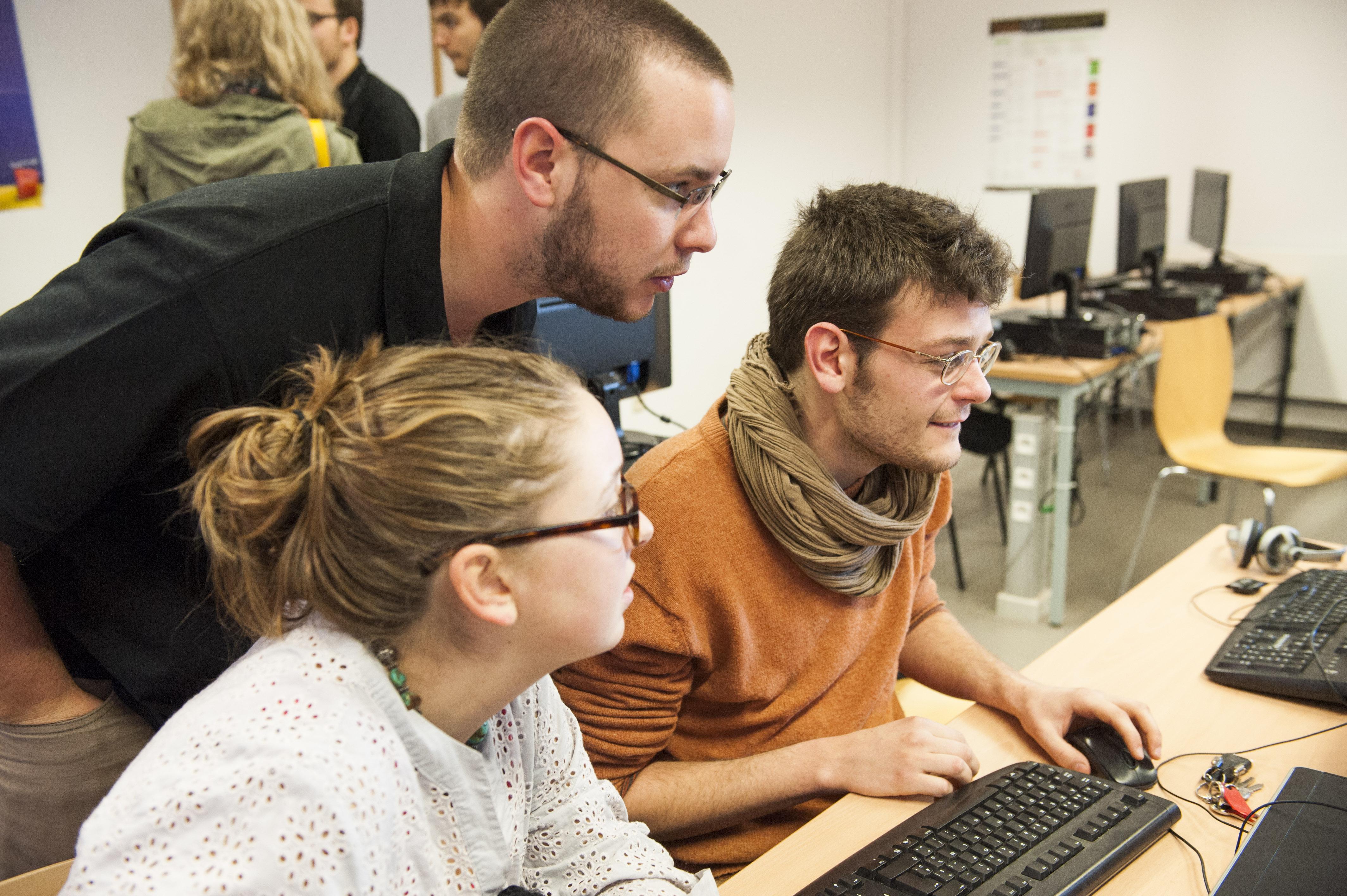 25.03.2014/Gembloux-Belgique/ Illustration Gemblous agro bio tech. cours et auditoire, Etudiants. Photo : ULg/Jeanlouis Wertz